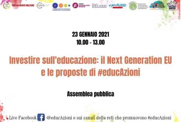 Investire sull'educazione: il Next Generation EU e le proposte di #educAzioni